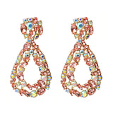 Hanging Colorful Crystals Dangle Drop Earrings