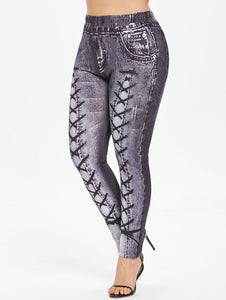 Plus Size 3D Printed Leggings-Sunshine's Boutique & Gifts