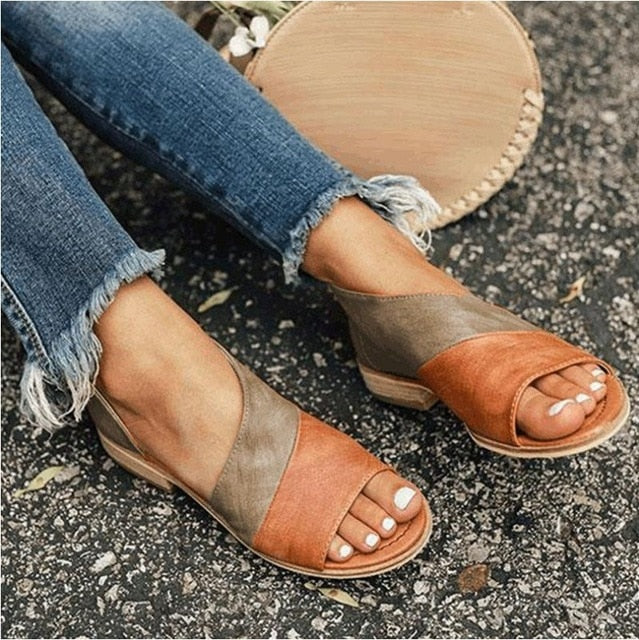 Women Ankle Strap Buckle Sandals-Sunshine's Boutique & Gifts