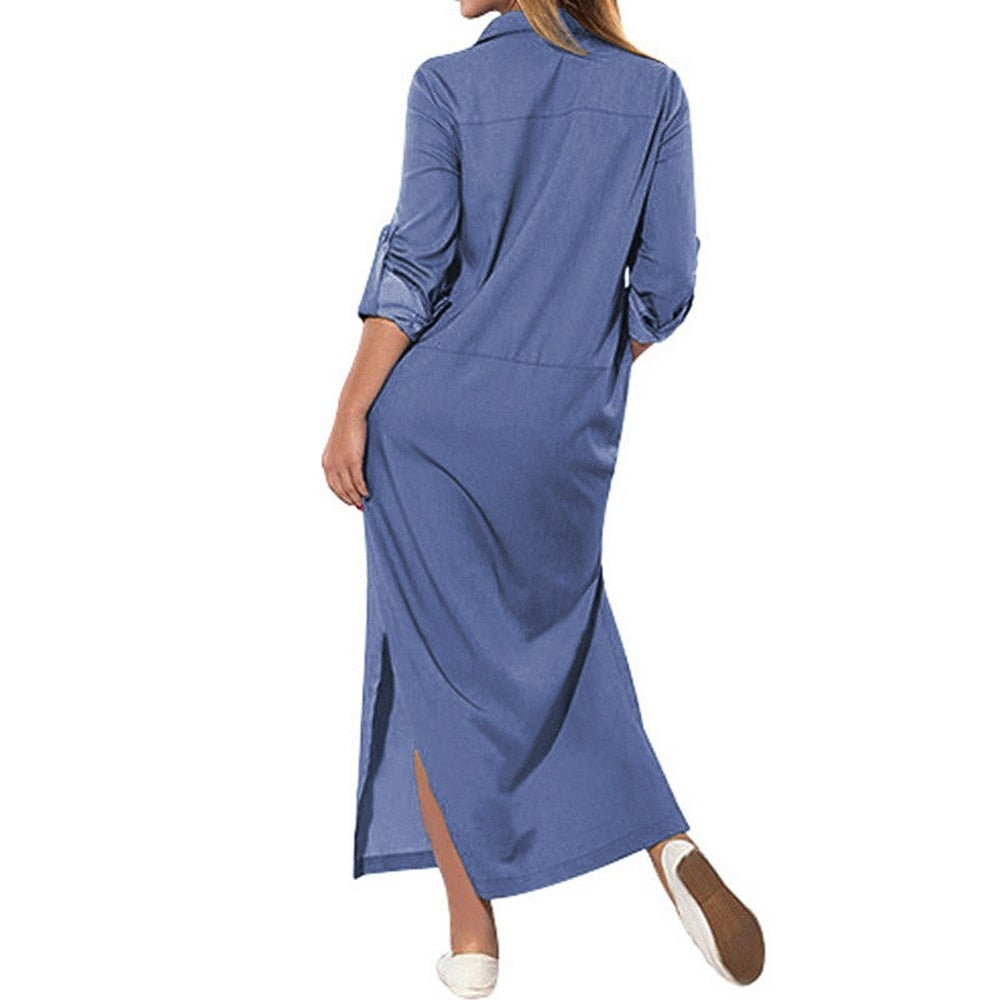 Denim Maxi Dress-Sunshine's Boutique & Gifts