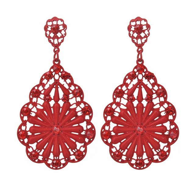 Bohemian Style Flower Long Earrings-Sunshine's Boutique & Gifts