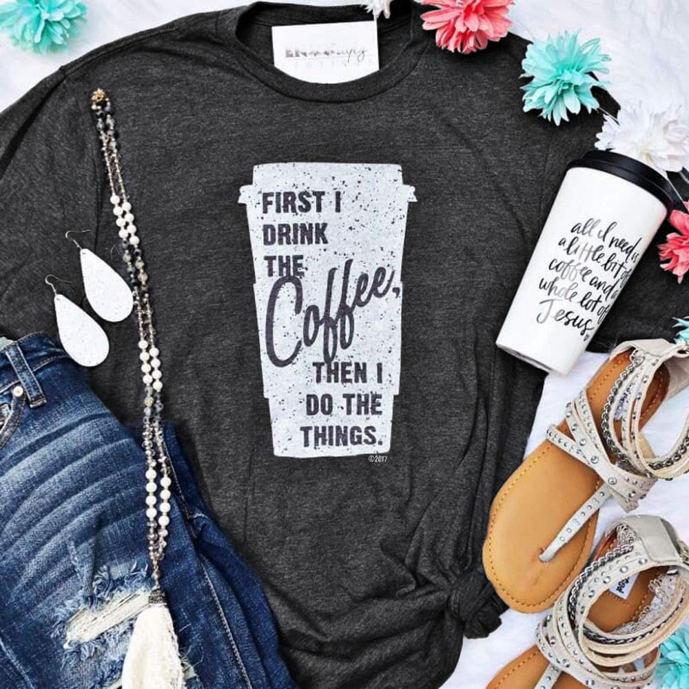 Women Casual Print Workout T-Shirt-Sunshine's Boutique & Gifts