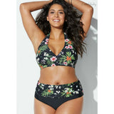 Women High Waist Bathing Suit Floral Print-Sunshine's Boutique & Gifts