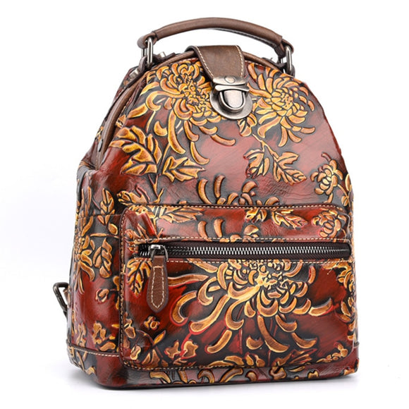 Women Natural Skin Rucksack Genuine Leather-Sunshine's Boutique & Gifts