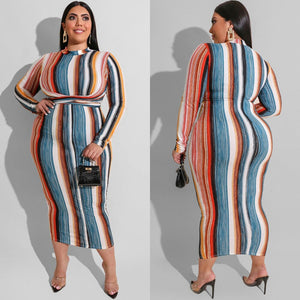 Plus Size Winter Maxi Dress