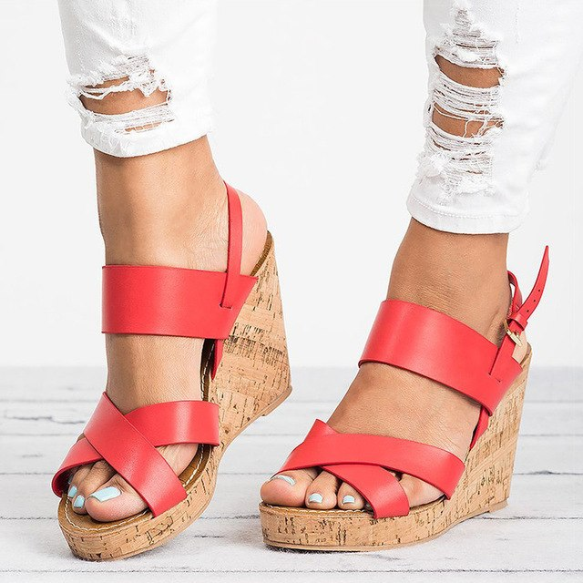 Women Peep Toe Wedges-Sunshine's Boutique & Gifts
