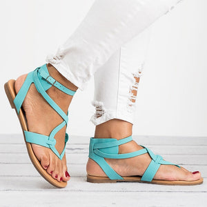 Women Soft Bottom Flat Sandals-Sunshine's Boutique & Gifts