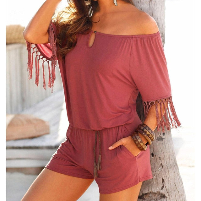 Boho Short Jumpsuits-Sunshine's Boutique & Gifts
