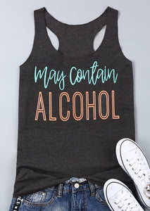 May Contain Alcohol Print Tank-Sunshine's Boutique & Gifts