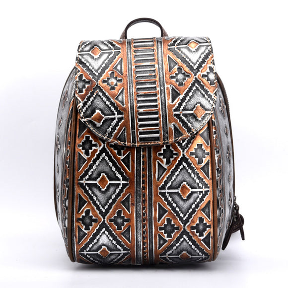 Women Vintage Rucksack Genuine Leather-Sunshine's Boutique & Gifts