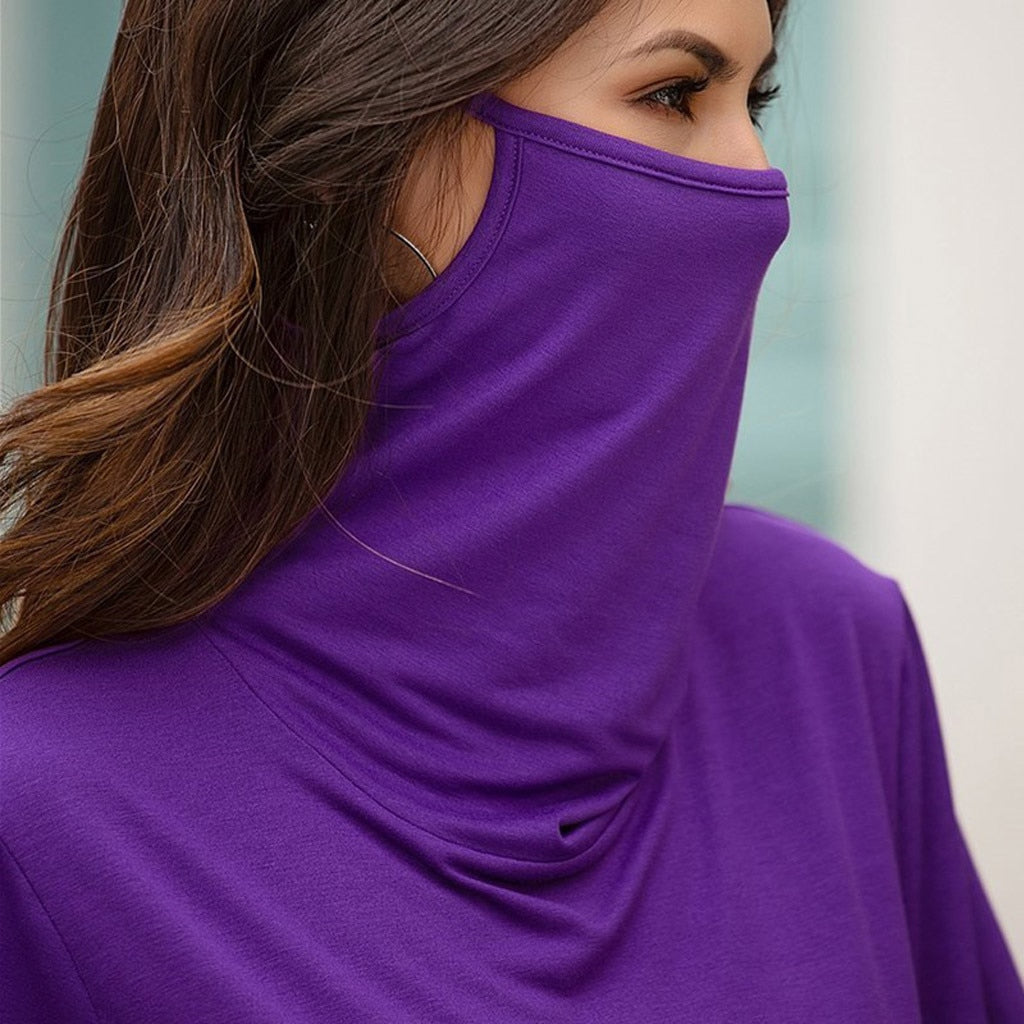 Loose Round Neck  Face mask Top