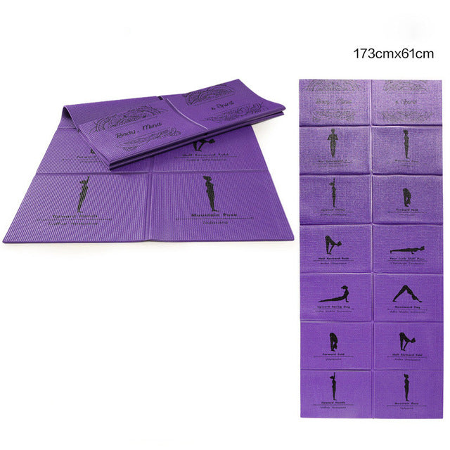 5mm PVC Non-slip Fold-able Yoga Mats-Sunshine's Boutique & Gifts