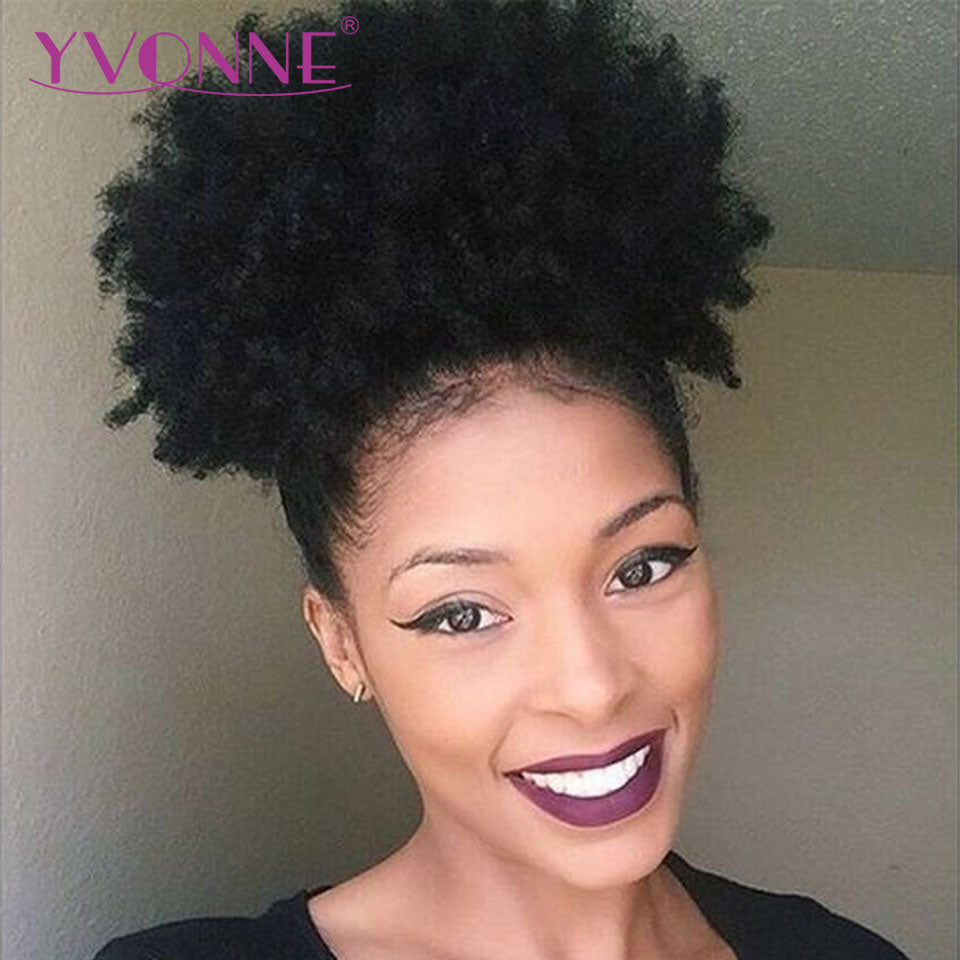 Brazilian Virgin Afro Kinky Curly Human Hair Drawstring Ponytail-Sunshine's Boutique & Gifts