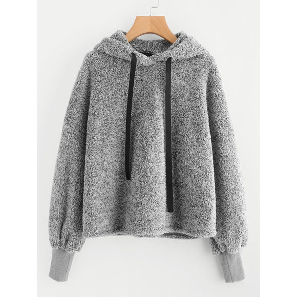 Faux Fur Fluffy Hoodie-Sunshine's Boutique & Gifts