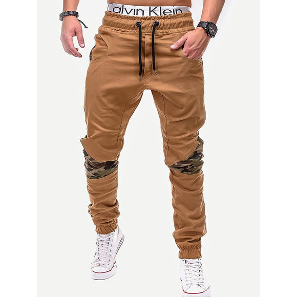 Men Contrast Camo Drawstring Waist Pants-Sunshine's Boutique & Gifts