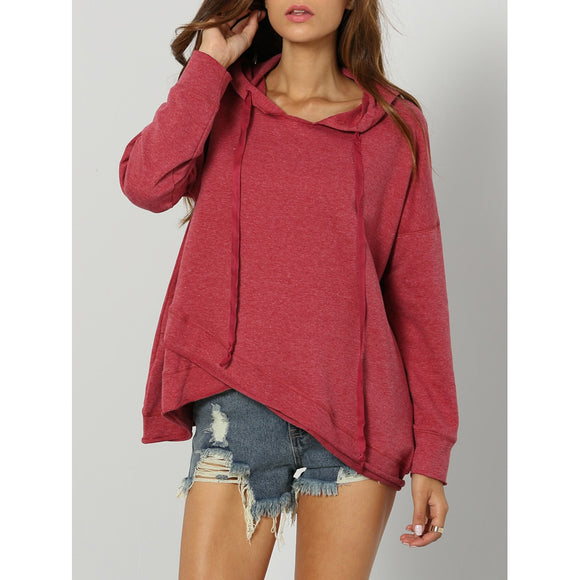 Dropped Shoulder Drawstring Hoodie-Sunshine's Boutique & Gifts