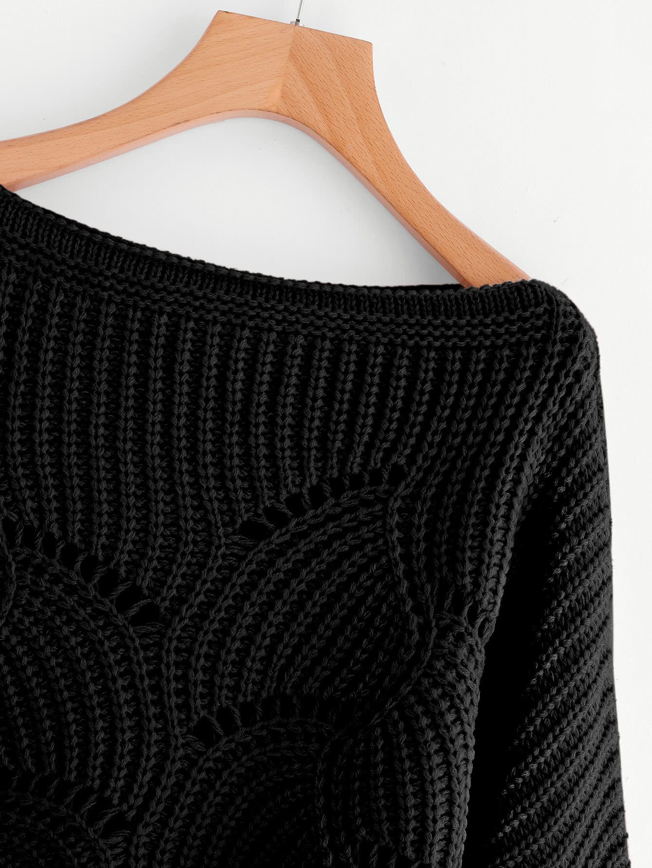 Eyelet Detail Scallop Trim Sweater-Sunshine's Boutique & Gifts