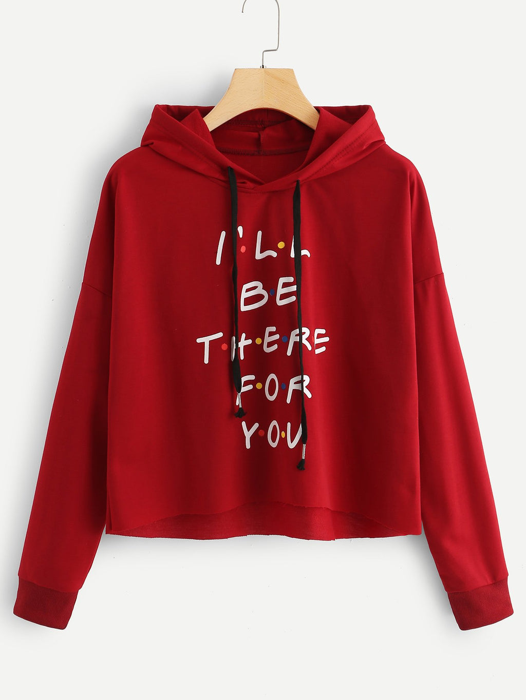 Letter Print Drawstring Detail Sweatshirt-Sunshine's Boutique & Gifts