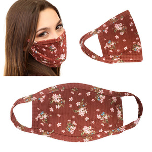 5Pcs unisex Cloth Flower Leopard Print face mask Protect Reusable Washable Made in USA