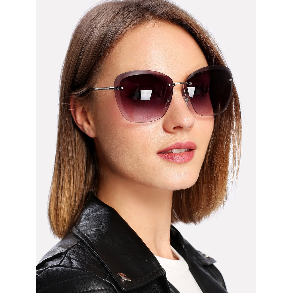 Rimless Tinted Lens Sunglasses-Sunshine's Boutique & Gifts