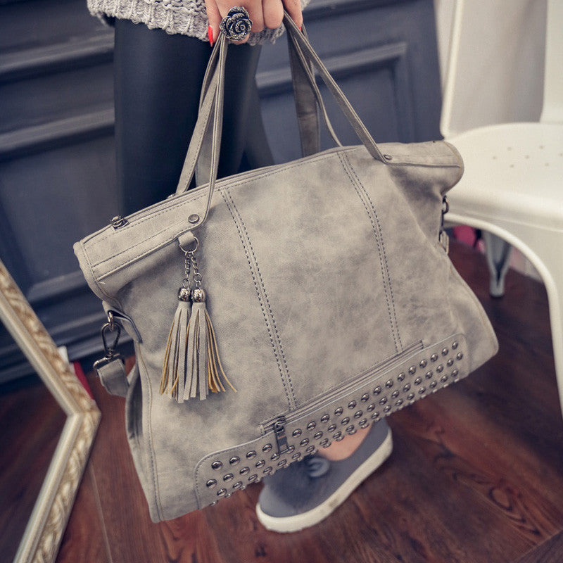 Fashion Vintage Scrub Tassel Handbag-Shoulder Bags-Sunshine's Boutique & Gifts