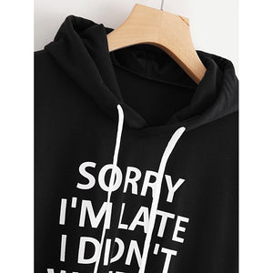Plus Letter Print Drop Shoulder Sweatshirt-Sunshine's Boutique & Gifts