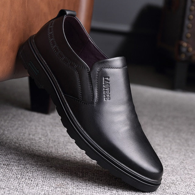 Men Genuine Leather Oxford-Sunshine's Boutique & Gifts