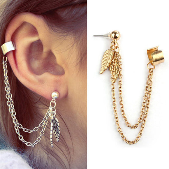 Charm Metal Ear Clip Stud Earring-Sunshine's Boutique & Gifts