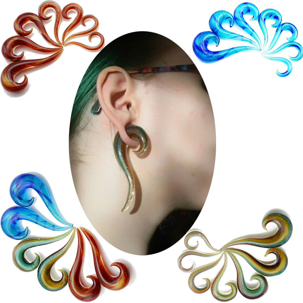 3Pair Glitter Spiral Taper Plugs-Sunshine's Boutique & Gifts