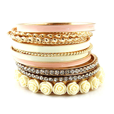Enamel Resin Flower Bracelets-Sunshine's Boutique & Gifts