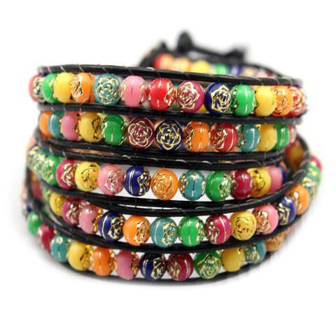 Rainbow Candy Wrap Bracelet-Sunshine's Boutique & Gifts