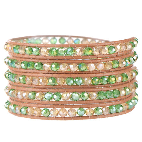 August Peridot Wrap Bracelet-Sunshine's Boutique & Gifts