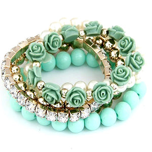 Laura's Flower Collection Bracelet-Sunshine's Boutique & Gifts