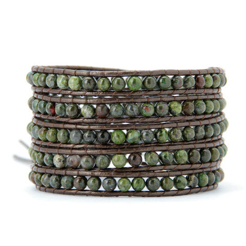 4MM  Natural Jasper Stone Wrap Bracelet