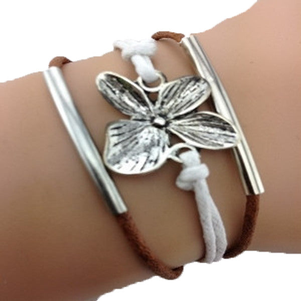 Simply Flower Brown Bracelet-Sunshine's Boutique & Gifts