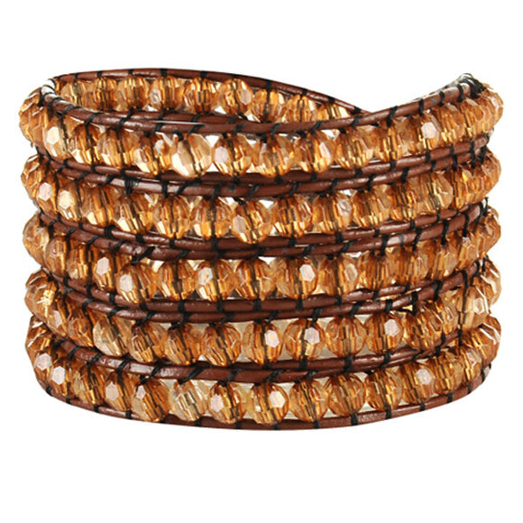 Golden Crystal Wrap Bracelet-Sunshine's Boutique & Gifts