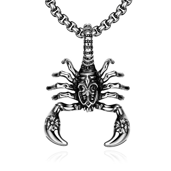 Stainless Steel Scorpion Emblem Necklace-Sunshine's Boutique & Gifts