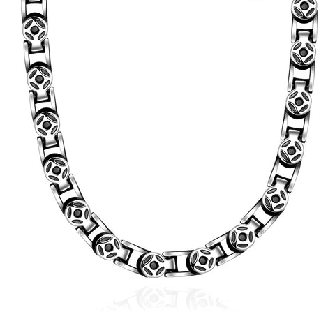 Thick Cut Celtic Inspired Stainless Steel Necklace