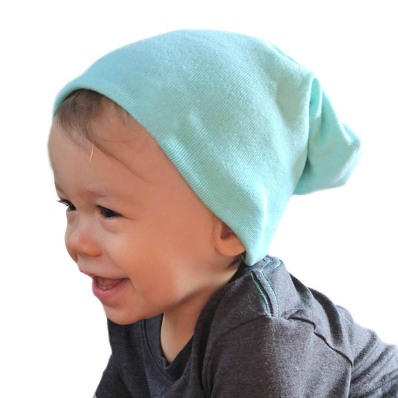 Kids Plain Knitted Cotton Hats-Sunshine's Boutique & Gifts