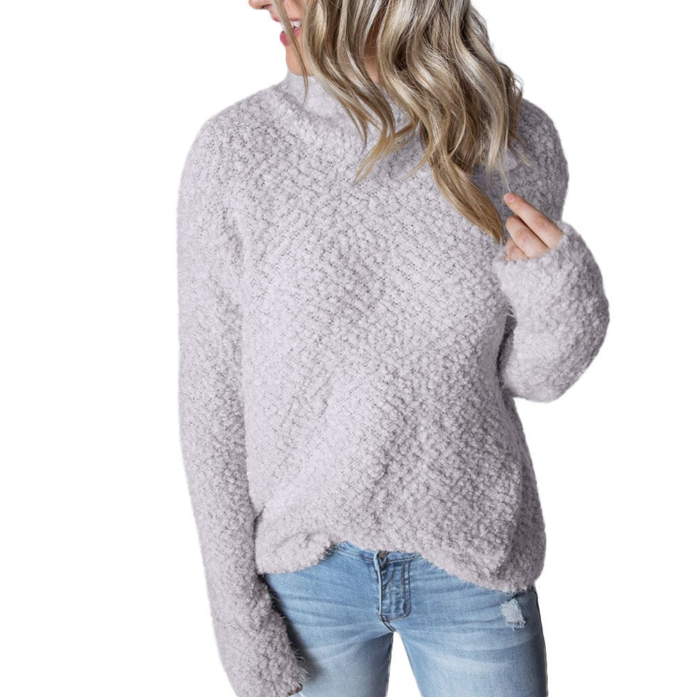 Womens Winter Long Sleeve Fluffy Sweater-Sunshine's Boutique & Gifts