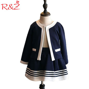 Navy Blue Short Jacket and Skirts Suits-Sunshine's Boutique & Gifts