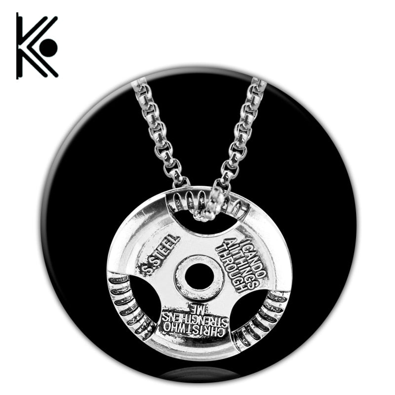 1pc High quality Barbell Pendant Necklace-Sunshine's Boutique & Gifts