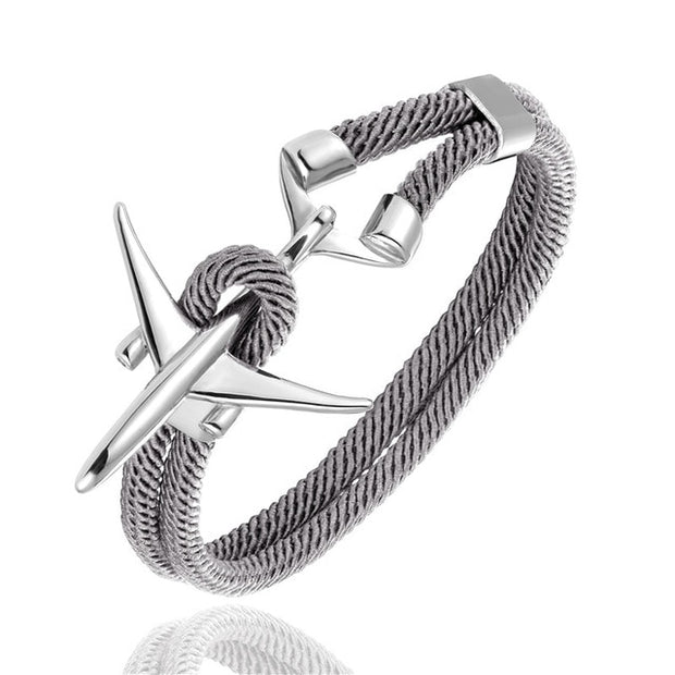 Steel Airplane Bracelet