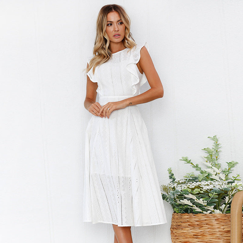 Lace Ruffles Dress