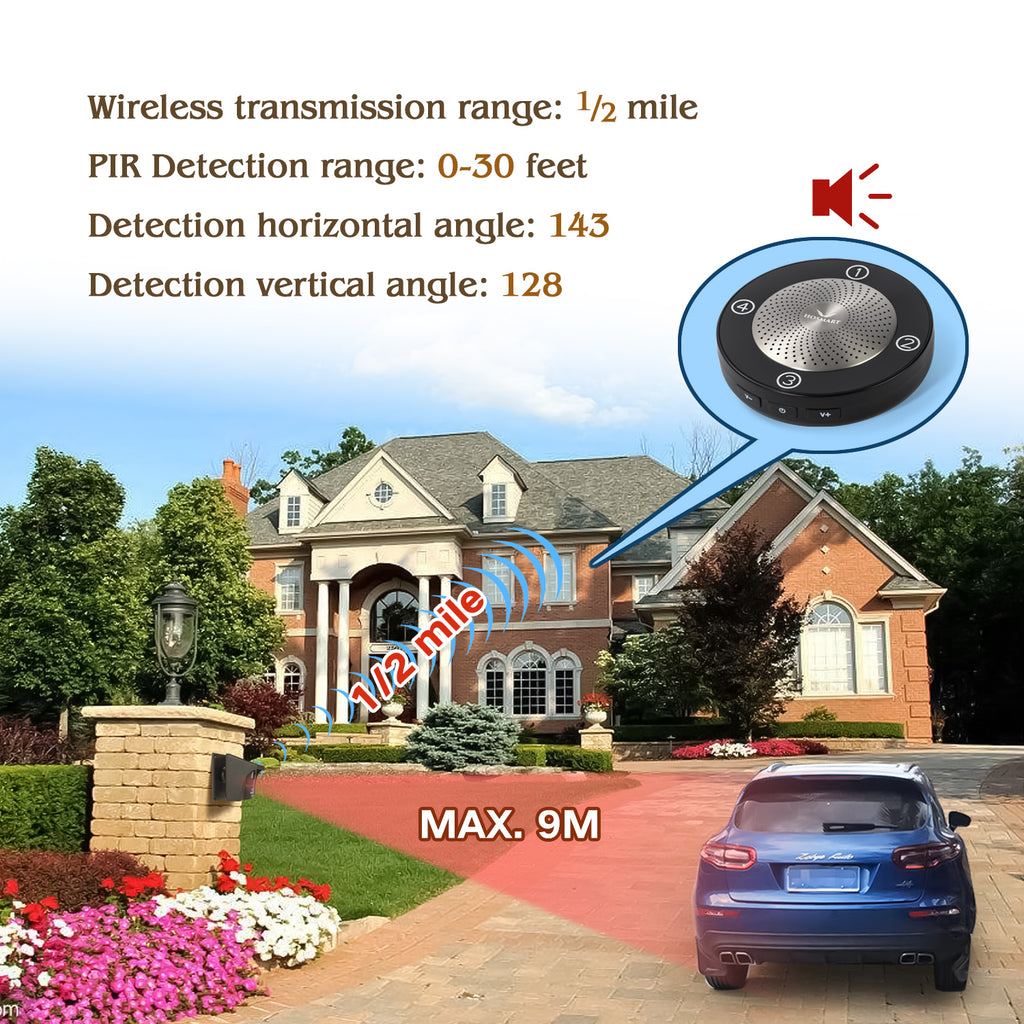 Solar Wireless Rechargable Driveway Alarm
