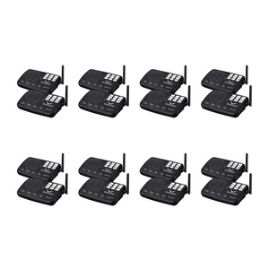 Hosmart Wireless Intercom System (HY777) 1/2 Mile LONG RANGE 7-Channel Security Wireless Intercom System for Home or Office(16 Stations Black))