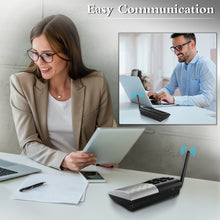 Hosmart real-time Two-Way Conversation Portable Wireless Intercom System 1000 feet Long Range DECT.6.0 Paired Intercom System Wireless Intercom System for Home and Office