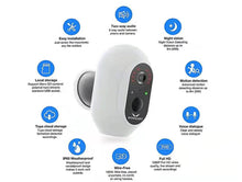 HOSMART Smart Battery Camera, Wireless Home Security Camera System, Indoor/Outdoor Security Cameras Night Vision Motion Detection,1080P, IP65, Two-Way Talk,Wall Mount(4 Camera Kit)
