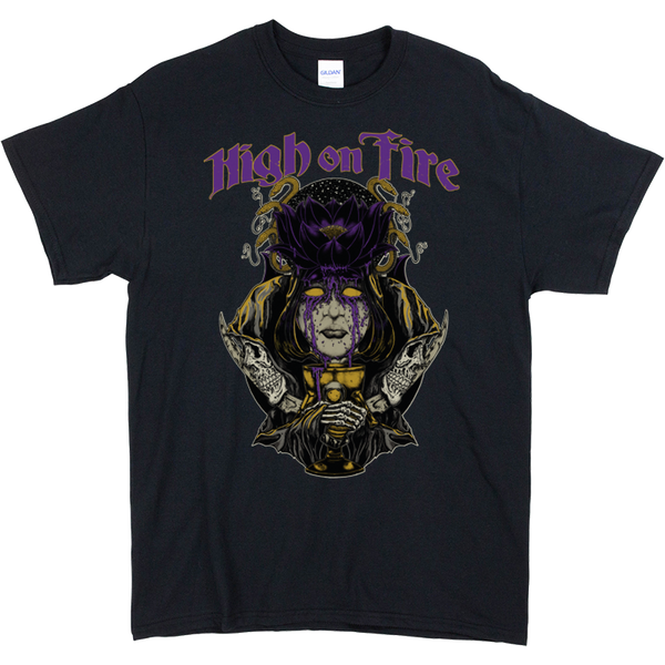 Black Lotus purple typography of High on Fire front Print