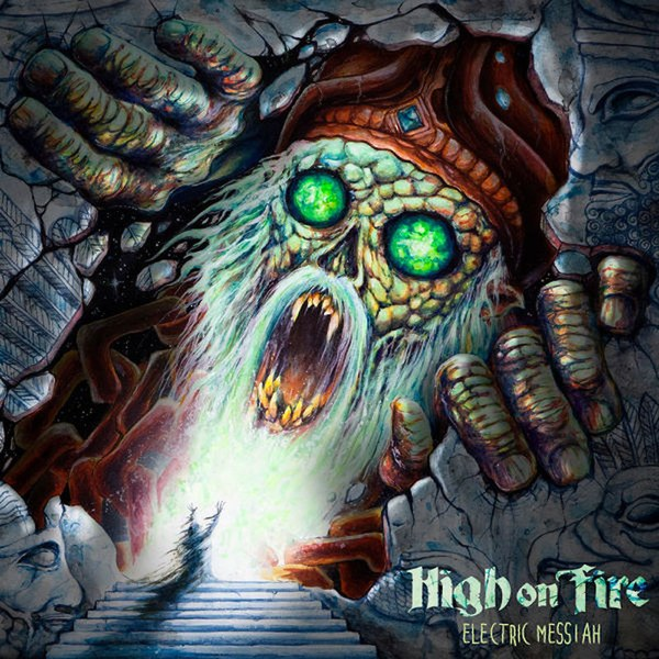 High On Fire Electric Messiah Vinyl wizard with green eyes on cover